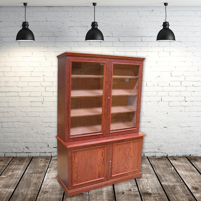 Humidor vitrina modelo Brisa acabado en madera de bubinga